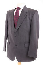 AUSTIN REED TWO BUTTON GREY PINSTRIPE MEN'S SUIT 40R DRY-CLEANED