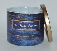 NEW BATH & BODY WORKS THE GREAT OUTDOORS SCENTED CANDLE 3 WICK 14.5OZ LARGE BLUE