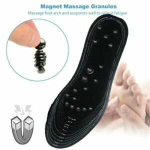 Acupressure Magnetic Massage Insoles for Men/Women Shoe-pad Foot Therapy 1 Pair