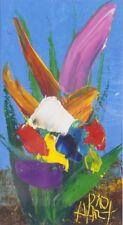 Pro HART 'Floral Warmth' original signed painting FRAMED Australian outback art