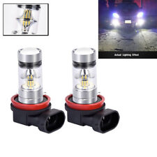 2x Car LED H11 H8 Bulbs 100W LED Fog Light White 6000K 1800LM  Bulb Replacement