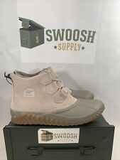 Sorel Women's Out N About Plus Waterproof Leather and Suede Duck Boot Taupe 8.5
