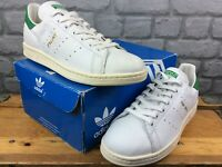 ADIDAS ORIGINALS MENS UK 8.5 EU 42 2/3 STAN SMITH WHITE GREEN LEATHER TRAINERS M