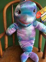 "Build a Bear 16"" Sea Splash Dolphin Plush/Puppet Stuffed/Unstuffed Animal  - NEW"