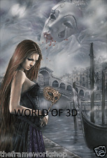 VICTORIA FRANCES THE FAIR LADY OF VENICE - 3D CULT FANTASY PICTURE 300mm x 400mm