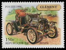 """BENIN 1102 - Antique Automobiles """"Clement, 1903"""" (pf34431)"""