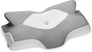 Elviros Cervical Contour Memory Foam Pillow for Neck Pain Orthopedic Neck Pillow