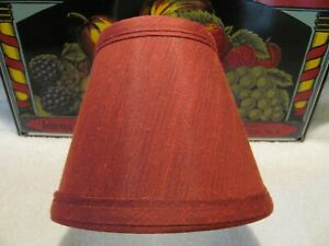 Pretty Red Miniature Clip On / Chandelier Lamp Shade