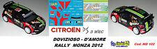 CITROEN DS3  WRC - DOVIZIOSO   - Rally  MONZA   2012