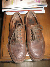 Mens MEPHISTO Pebbled Brown Leather Casual Lace-Up Oxfords Shoes-8M