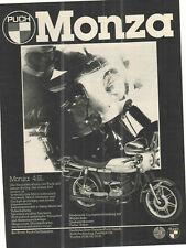 PUCH MONZA 4 SL ---  alte Annonce - vintage advert - historische Reklame --