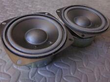 "NEW (2) 4"" Woofer Speakers.Shielded.8 ohm.Pin Cushion four inch.Replacement.PAIR"