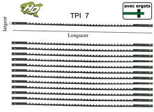 12 lames de scie à chantourner 127 avec ergot TPI 7