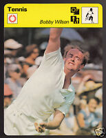 BOBBY WILSON British Tennis Player Photo 1979 SPORTSCASTER CARD 65-09