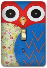 Cute Blue Owl Retro Metal Switch plate Wall Cover Lighting Fixture SP705