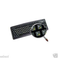 Keyboard stickers arabic/transparent yellow letters keys