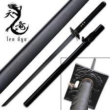 Razor Sharp Battle Ready Ten Ryu Damascus Steel Katana Black Ninja Sword -
