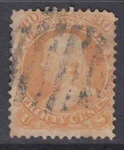 USA Scott #71  30 cent  Franklin orange    F  **