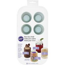 Wilton 8 Cavity Round Silicone Shot Dessert Molds Oven Freezer Dishwasher Safe