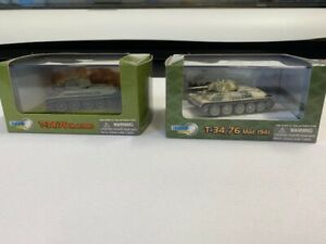 Dragon Armour T-34/76 2 die cast models, boxed in VGC
