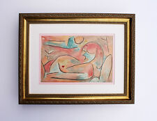 Passionate 1938 PAUL KLEE Original Color Lithograph WINTER Signed Framed COA WOW