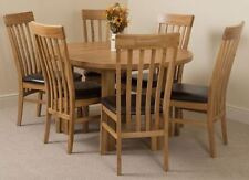 Oval Table & Chair Sets with Extending and 7 Pieces
