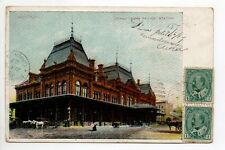 CANADA carte postale ancienne MONTREAL grand trunk station