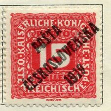 Mint Hinged Postage Due Czech & Czechoslovakian Stamps