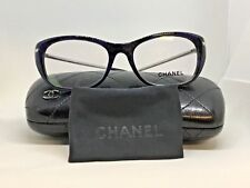 Chanel Eyeglass Frame 3295-B Color 1487 Blue with Crystal Temples  MSRP 490
