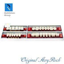 4pcs Set Acrylic Dental Lab Teeth Ruthinium Acryrock Teeth A1 Size 25 Full Mouth