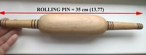 Traditional Uzbek Walnut rolling pin 13.7 inch Long, Uzbek baking tools, 35 cm