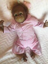 Cute reborn baby girl Orangutan/chimp/monkey. Bindi,rooted hair 16 inches.