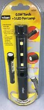 Rolson 0.5W TORCH + 3 LED Pen Lamp NEW FREE POSTAGE