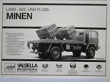 4/1985 PUB VALSELLA MECCANOTECNICA ISTRICE MINEN CAMION FIAT IVECO 4X4 GERMAN AD