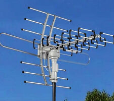 150MILES OUTDOOR TV ANTENNA 360° MOTOR AMPLIFIED HDTV HIGH GAIN 36dB UHF VHF