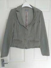 Ladies M&S PER UNA Short Jacket UK size 10 - Natural Grey / Stonewashed / Denim