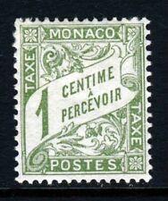 MONACO 1905 1 Cent Green POSTAGE DUE SG 29a  MINT