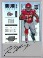 KAREEM HUNT - 2017 Contenders Optic Rookie Ticket AUTO SP - KC Chiefs RC