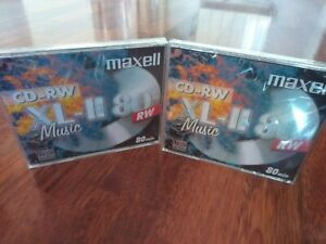 Lote 2 CD RW- AUDIO MAXELL XL- II 80