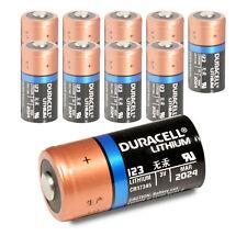10 x Duracell DL123A Batterie 3V NEUWARE  CR123 A Lithium Foto Batterie