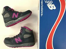 Brand New Kids New Balance Paradox grey pink water-resistant sneaker boots.