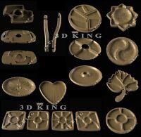 13 Pcs STL 3D Models DISH PLATE Kitchen for CNC Router Aspire Artcam 3D Print