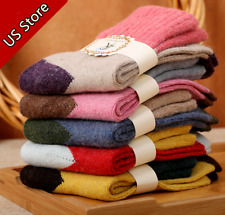 SALE 5 Pairs Womens Wool Cashmere Warm Soft Thick Casual Multicolor Winter Socks