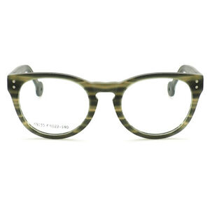 Hand Made Round Eyeglass Frames Men Women Vintage Retro Acetate Glasses Rx able