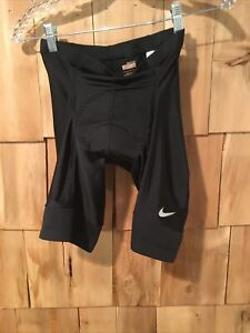 NIKE FIT DRY BLACK PADDED CYCLING SHORTS SIZE LARGE