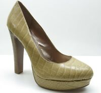 BCBGeneration Beige Animal Print Platform Career Dress Pumps Heels 10M 10
