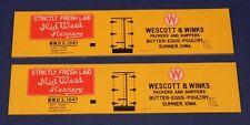 Westcott & Winks / HO Scale Billboard Advertising Sides for Freight Car Kit
