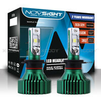 Novsight 2x H7 LED Headlight Kit Light Bulbs White 60W 16000LM/Pair Super Bright