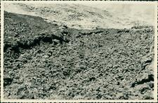 Italie, Lave à l'Etna, 1953  Vintage silver print. Italy. Photo légendée au