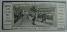 Early Buffalo Shoe Repair Blotter-Shows Store Interior-Unused